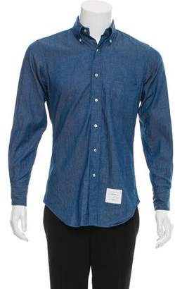 Thom Browne x Colette Logo Striped Chambray Shirt w/ Tags