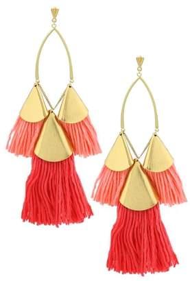 Ettika Tassel Statement Earrings