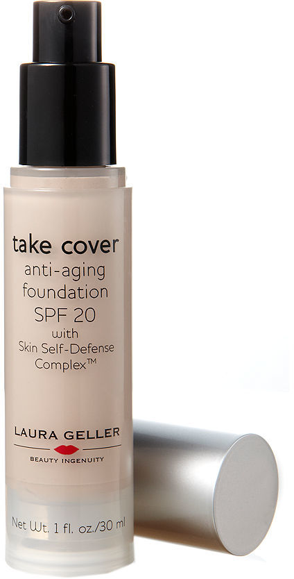 Laura Geller Take Cover Anti-Aging Foundation Broad Spectrum SPF 20 with Skin Self-Defense Complex, Fair 30 ml