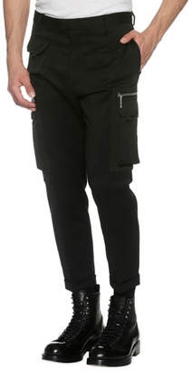 DSQUARED2 Slim-Fit Cargo Trousers, Black