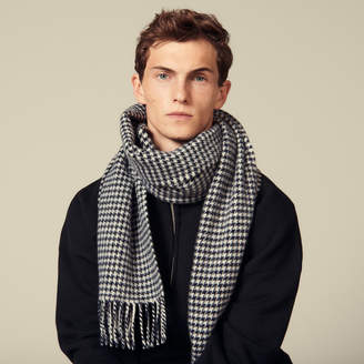 Sandro Houndstooth Wool Scarf