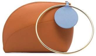 Roksanda orange eartha small bicolour leather bracelet bag