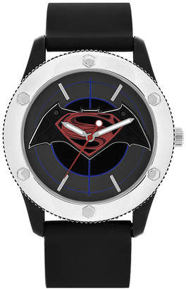 DC COMICS DC Comics Mens Black Strap Watch