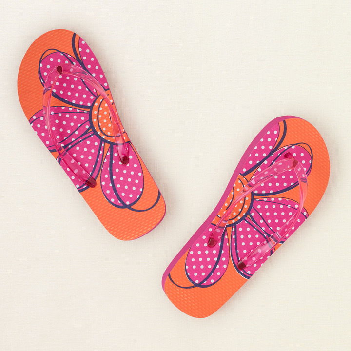 Children's Place Daisy flip flops
