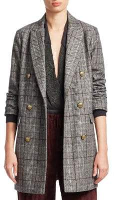 Brunello Cucinelli Plaid Wool Coat
