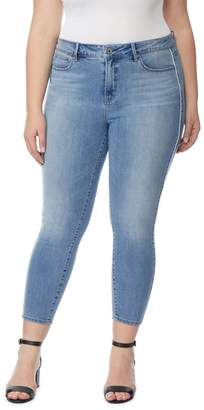 Wilson Rebel X Angels The Pin Up Racer Mid Rise Crop Jeans (Plus Size)