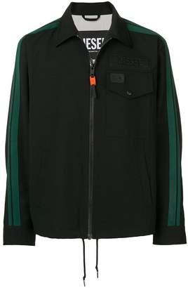 Diesel side stripe shirt jacket
