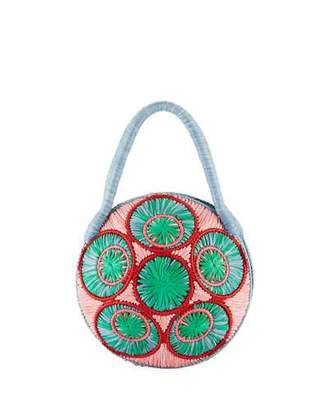 Sophie Anderson Saba Straw Circle Top Handle Bag