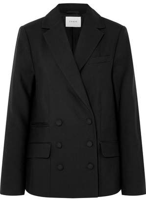 Frame Double-breasted Wool Blazer - Black