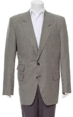 Tom Ford Wool & Silk-Blend Houndstooth Blazer