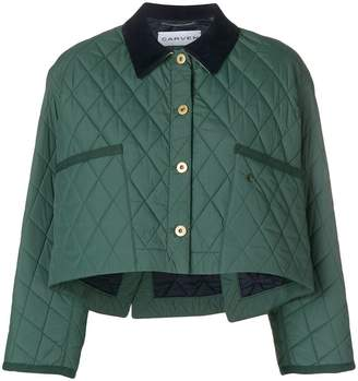 Carven quilted cropped jacket