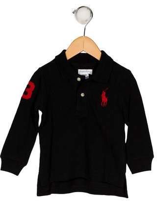 Ralph Lauren Boys' Collar Long Sleeve Shirt