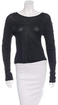 Under.ligne By Doo.ri Ruched Long Sleeve T-Shirt