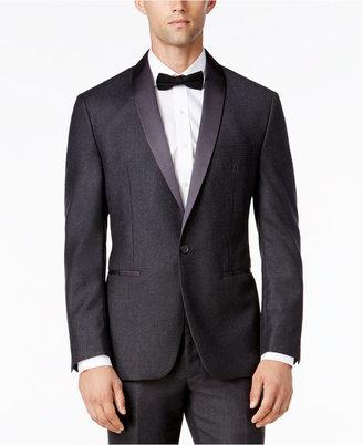 Ryan Seacrest Distinction Men's Modern Fit Gray Flannel Tuxedo Jacket, Only at Macy's $425 thestylecure.com