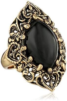 Barse Guinevere Ornate Onyx Ring