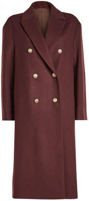 Brunello Cucinelli Wool Coat with Cashmere