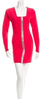 Victoria Beckham Wool & Silk Long Sleeve Dress