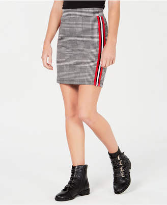 Ultra Flirt by Ikeddi Juniors' Varsity-Stripe Mini Skirt