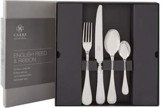 Carrs of Sheffield Silver English Reed & Ribbon Stainless Steel Cutlery Set
