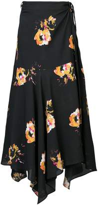 A.L.C. floral print wrap skirt
