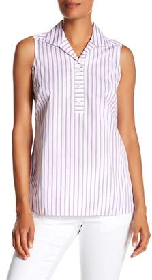 Foxcroft Dani Stripe Sleeveless Shirt