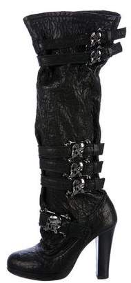 Thomas Wylde Knee-High Embellished Boots