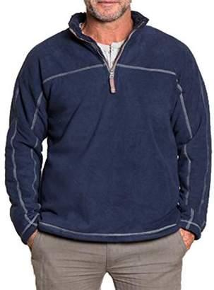 True Grit Men's Bonded Polar Fleece and Faux Sherpa 1/4 Zip Pullover