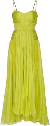 Maria Lucia Hohan Vika Metallic Mousseline Dress