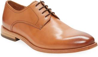 Warfield & Grand Plain-Toe Leather Derby Shoe