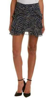 Derek Lam 10 Crosby Ruffled Silk Mini Skirt