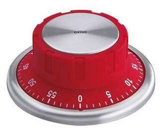 Cilio Premium Safe Style Timer With Magnetic Base, Red