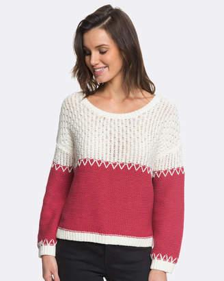 Roxy Womens Vermillion Cliffs Colour Block Knit Jumper