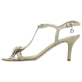 Pre-owned - Green Leather Sandals Dior 6cxGA1rjr