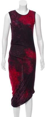 Halston Sleeveless Abstract-Printed Maxi Dress Red Sleeveless Abstract-Printed Maxi Dress