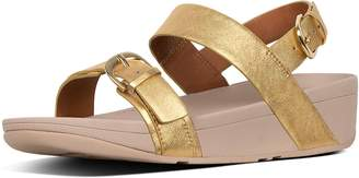 FitFlop Edit Metallic Leather Back-Strap Sandals