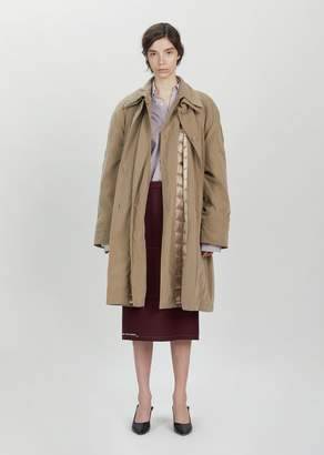 Vetements Granny Double Sided Coat Beige