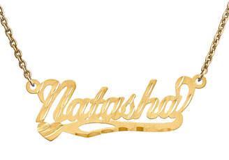 FINE JEWELRY Personalized 10x31mm Diamond-Cut Scroll Name Necklace
