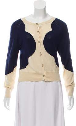 Orla Kiely Button-Up Silk-Blend Cardigan w/ Tags