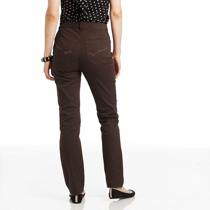 Gloria Vanderbilt amanda embellished color tapered jeans - women's