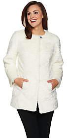 Dennis Basso Platinum Collection Faux FurTopper Coat