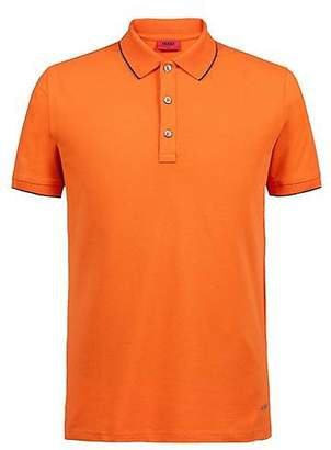 HUGO BOSS Slim-fit pique polo shirt with contrast tipping