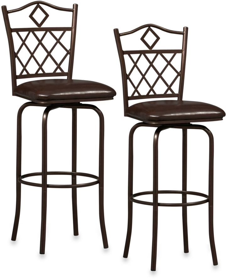 Raleigh Linon Home Décor Products Metal Bar Stool