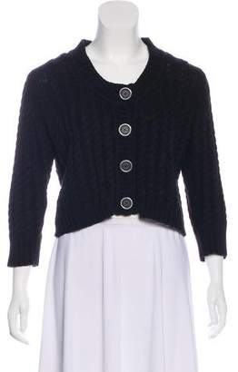 Burberry Cable Knit Cropped Cardigan