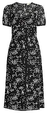 MICHAEL Michael Kors Women's Floral Sequin Overlay Midi Dress - Size 0
