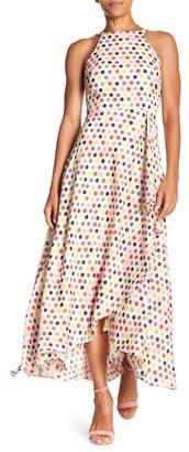 Eva Franco Jenine Cascading Front Maxi Dress