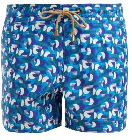 Thorsun Athena Sol Swim Shorts - Womens - Blue Multi