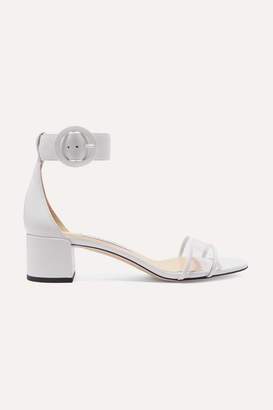 Jimmy Choo Jaimie 40 Leather And Pvc Sandals - White