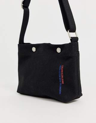 Calvin Klein Jeans Calvin Klein utility canvas crossbody bag 729884bcbf7