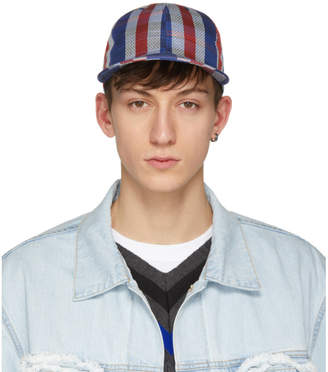 Name Blue and Red Woven Stripe Cap