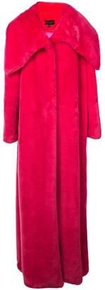 Christian Siriano long fax fur coat